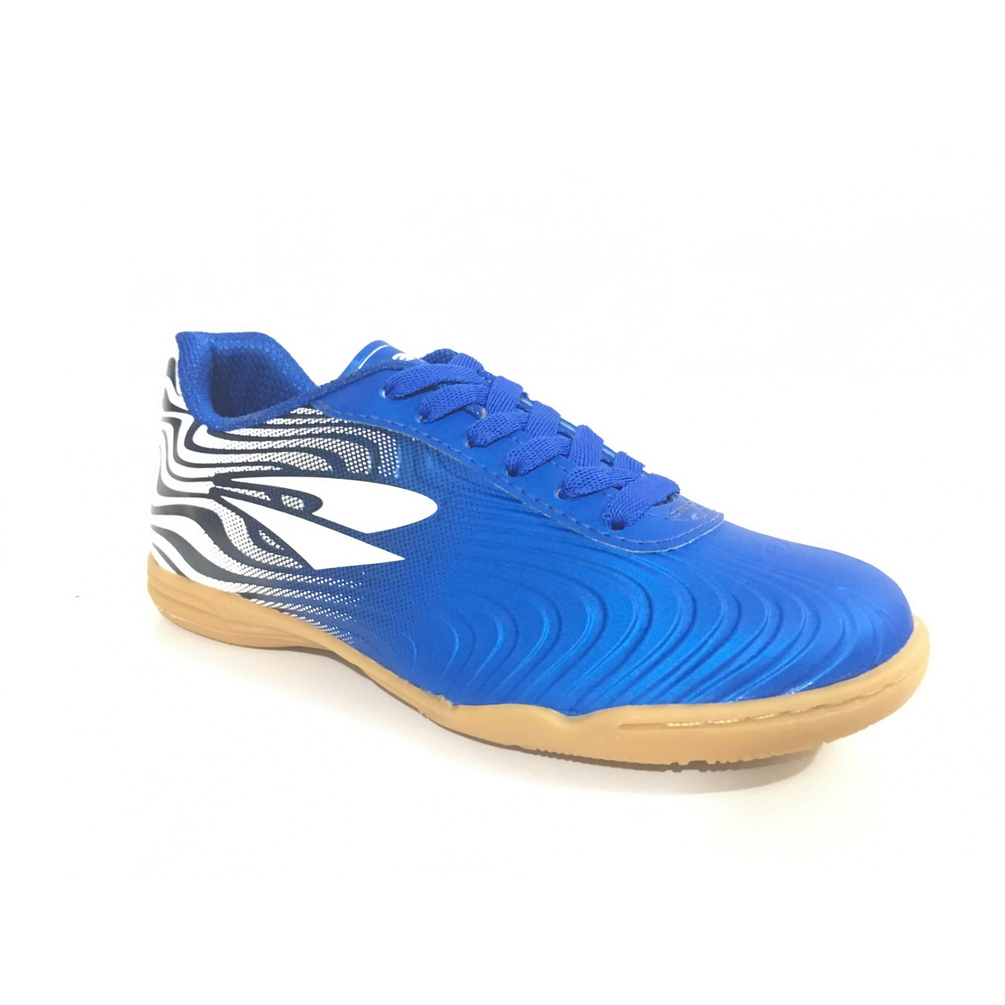 Chuteira Futsal Dray Topfly X2 Infantil - Azul/Branco