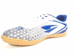Chuteira Futsal Dray Topfly X Adulto - Branco/Azul