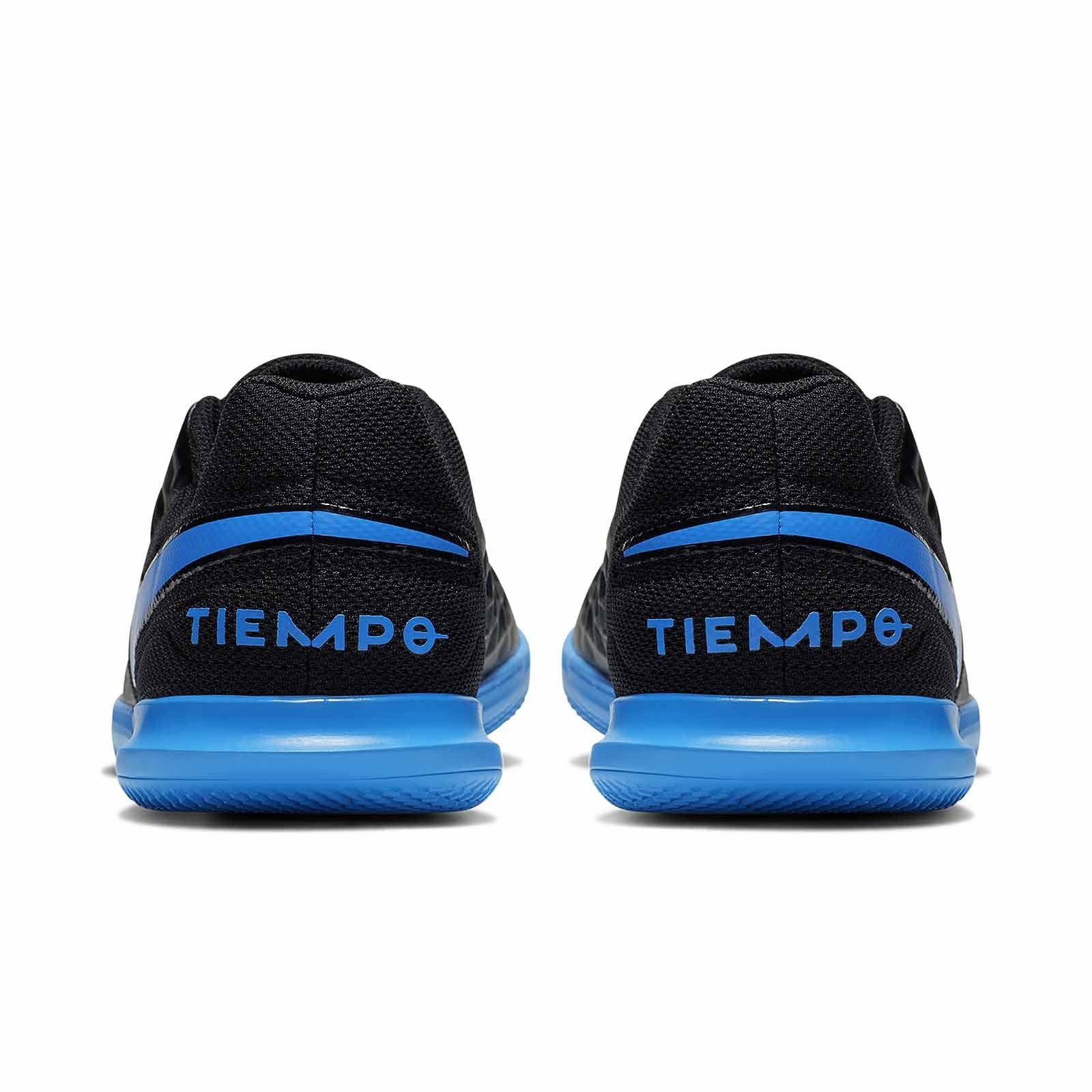 Chuteira Futsal Nike Tiempo Jr Legend 8 Club - Infantil - Preto e azul