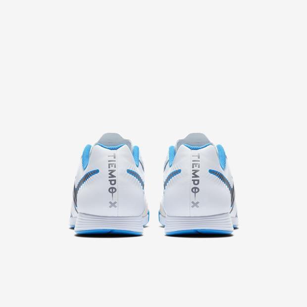 Chuteira Futsal Nike Tiempo Legendx 7 Academy IC Masculino - Branco/Azul
