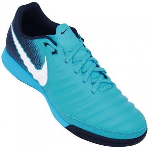 2c099d4a16 Chuteira Futsal Nike TiempoX Ligeira Masculino - Azul Marinho ...