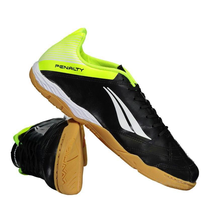 Chuteira Futsal Penalty FSC Brasil 70 R2 Vll Masculino - Preto/Amarelo