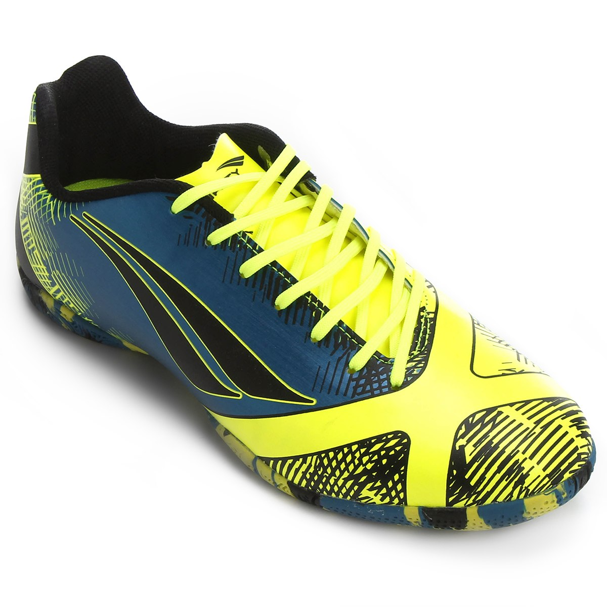 Chuteira Futsal Penalty Victória RX 2 Vl Masculino - Azul/Amarelo