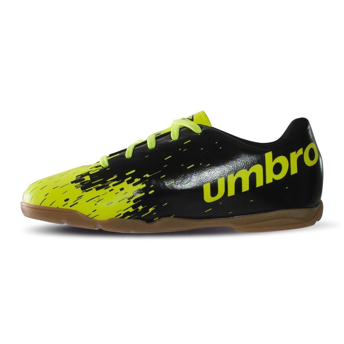 Chuteira Futsal Umbro Acid Jr - Limão/Preto