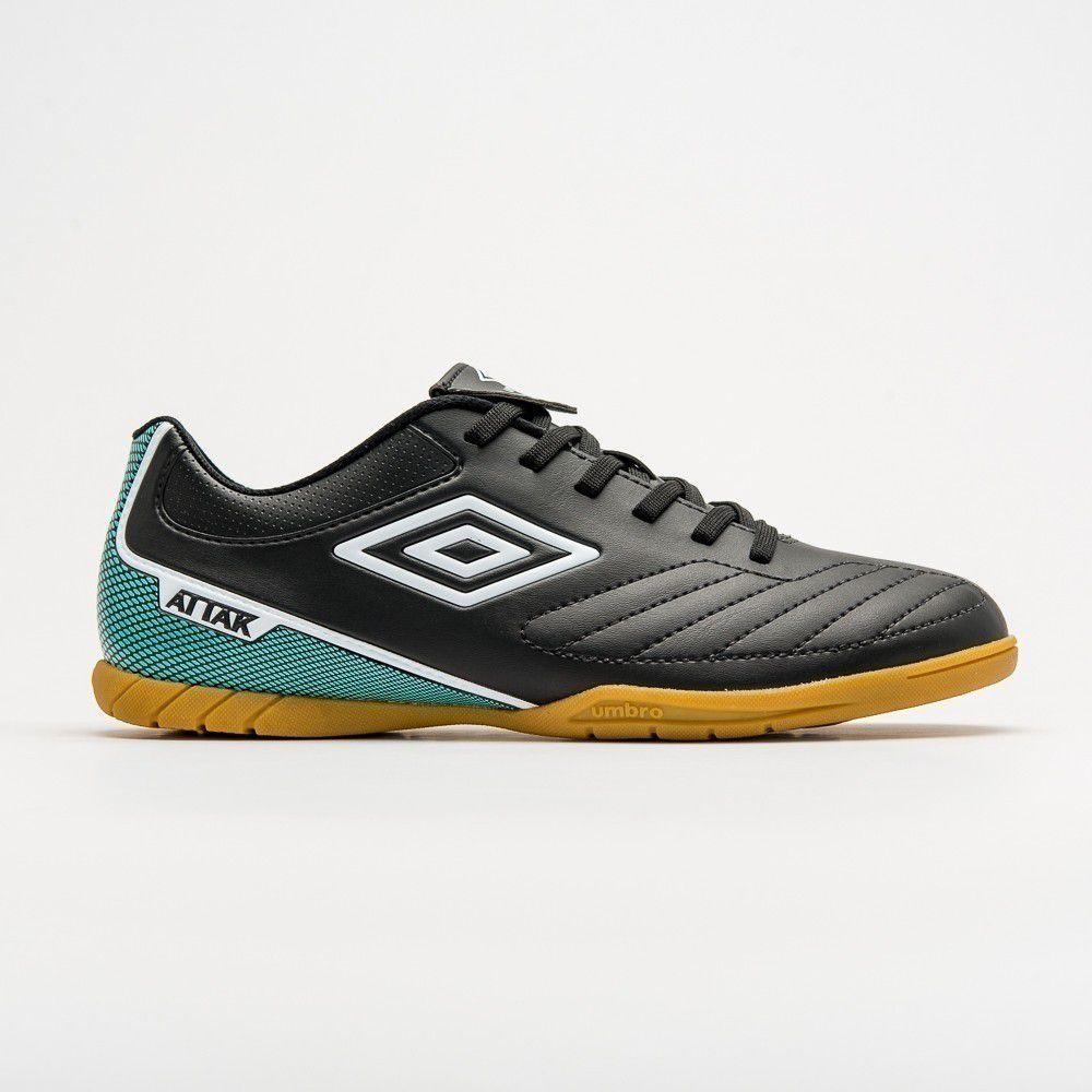 Chuteira Futsal Umbro Attak ll Masculino - Preto e Verde