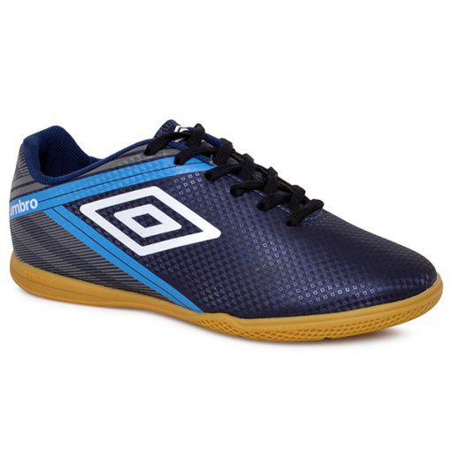 Chuteira Futsal Umbro Drako Masculino- Adulto - Azul Escuro