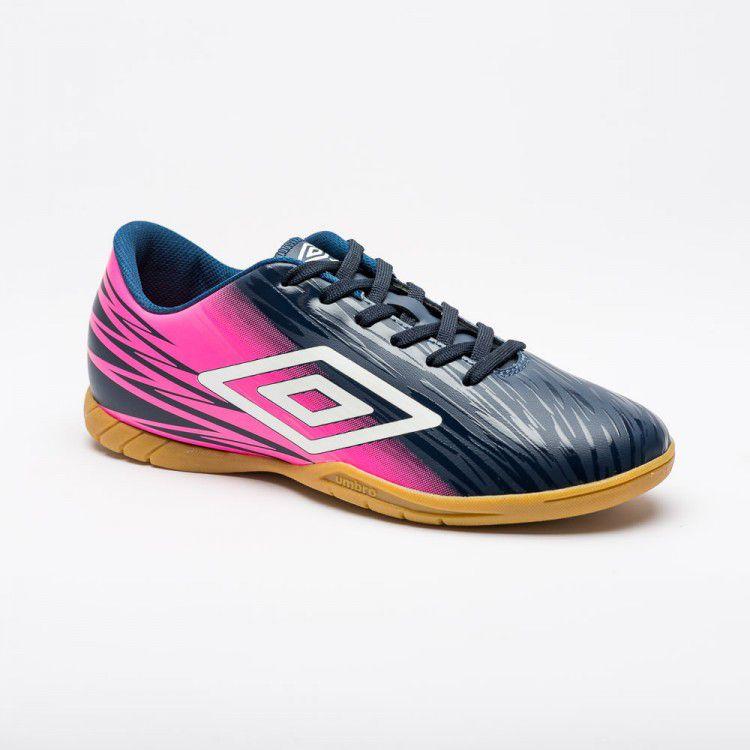 Chuteira Futsal Umbro Hit Adulto - Marinho/Rosa