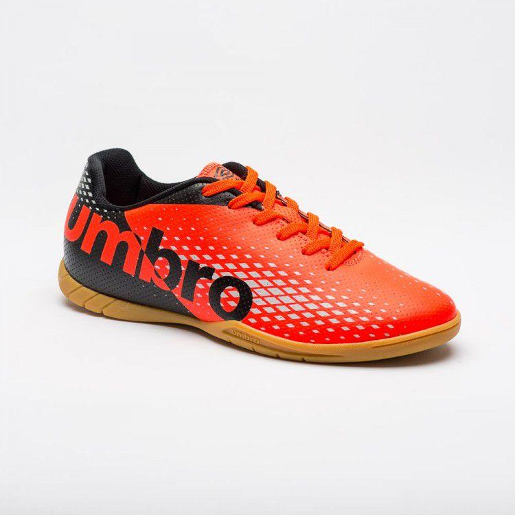 7a2f7e5688289 Chuteira Futsal Umbro Innverse Adulto - Preto Coral