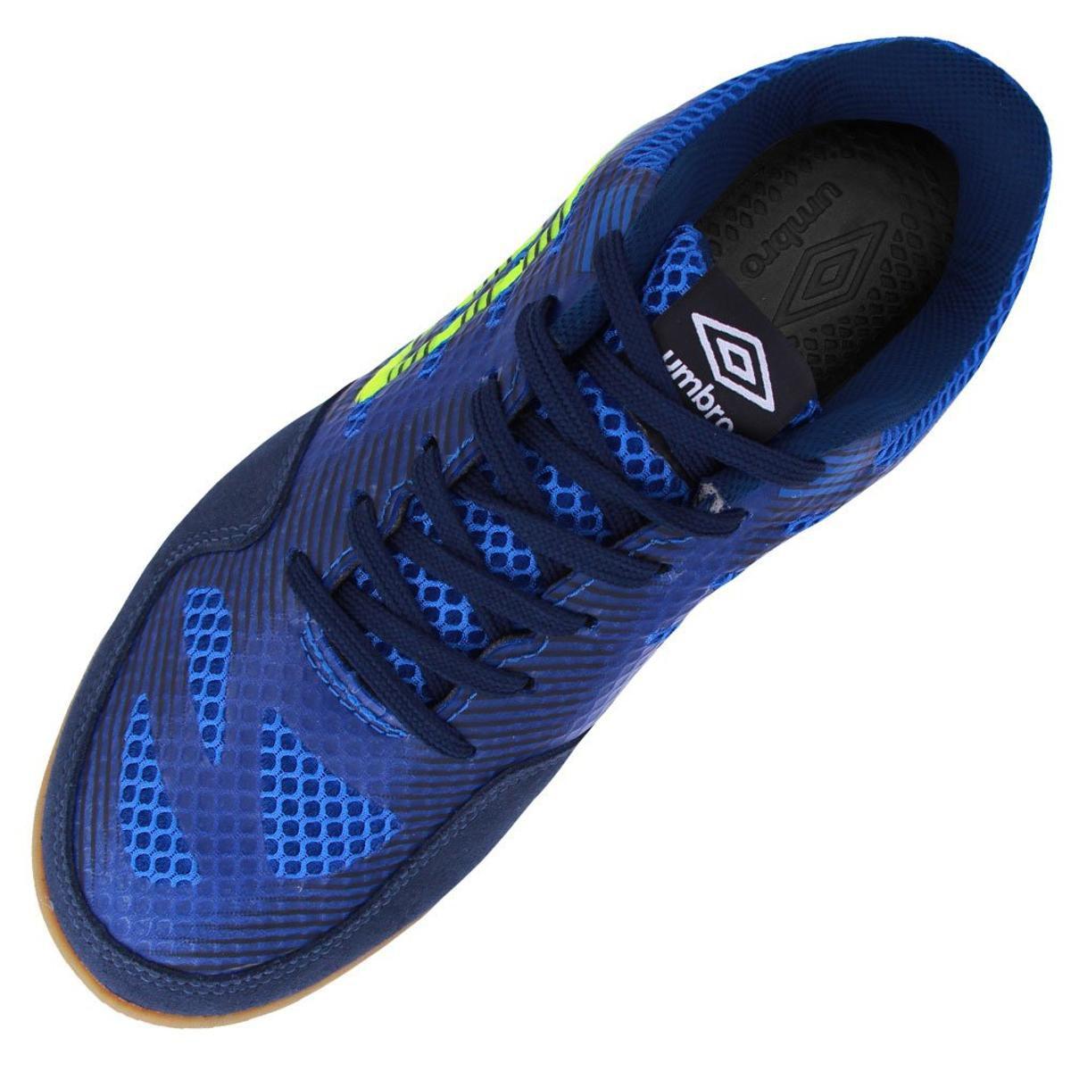Chuteira Futsal Umbro Pró IV Adulto - Azul Marinho