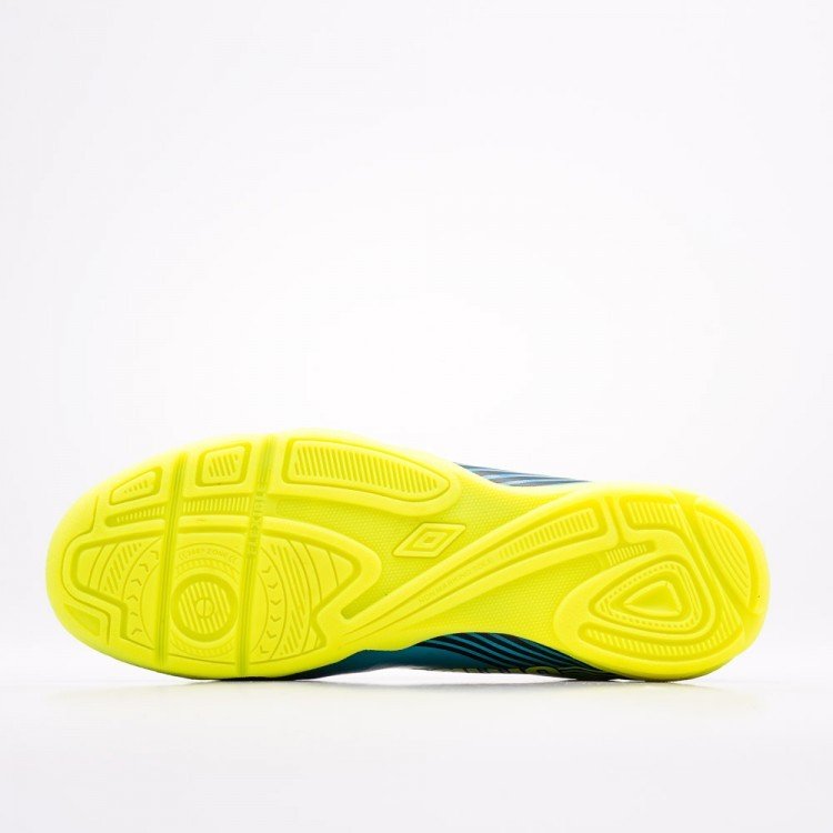 Chuteira Futsal Umbro Slice 3 Masculino - Preto/Azul/Verde