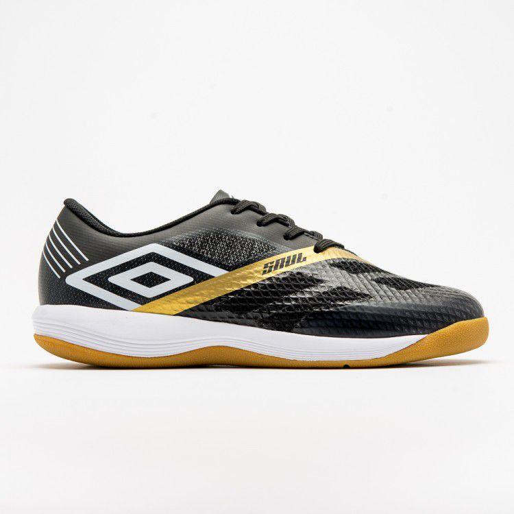 Chuteira Futsal Umbro Soul Pró Masculina - Pto/Bco/Dou