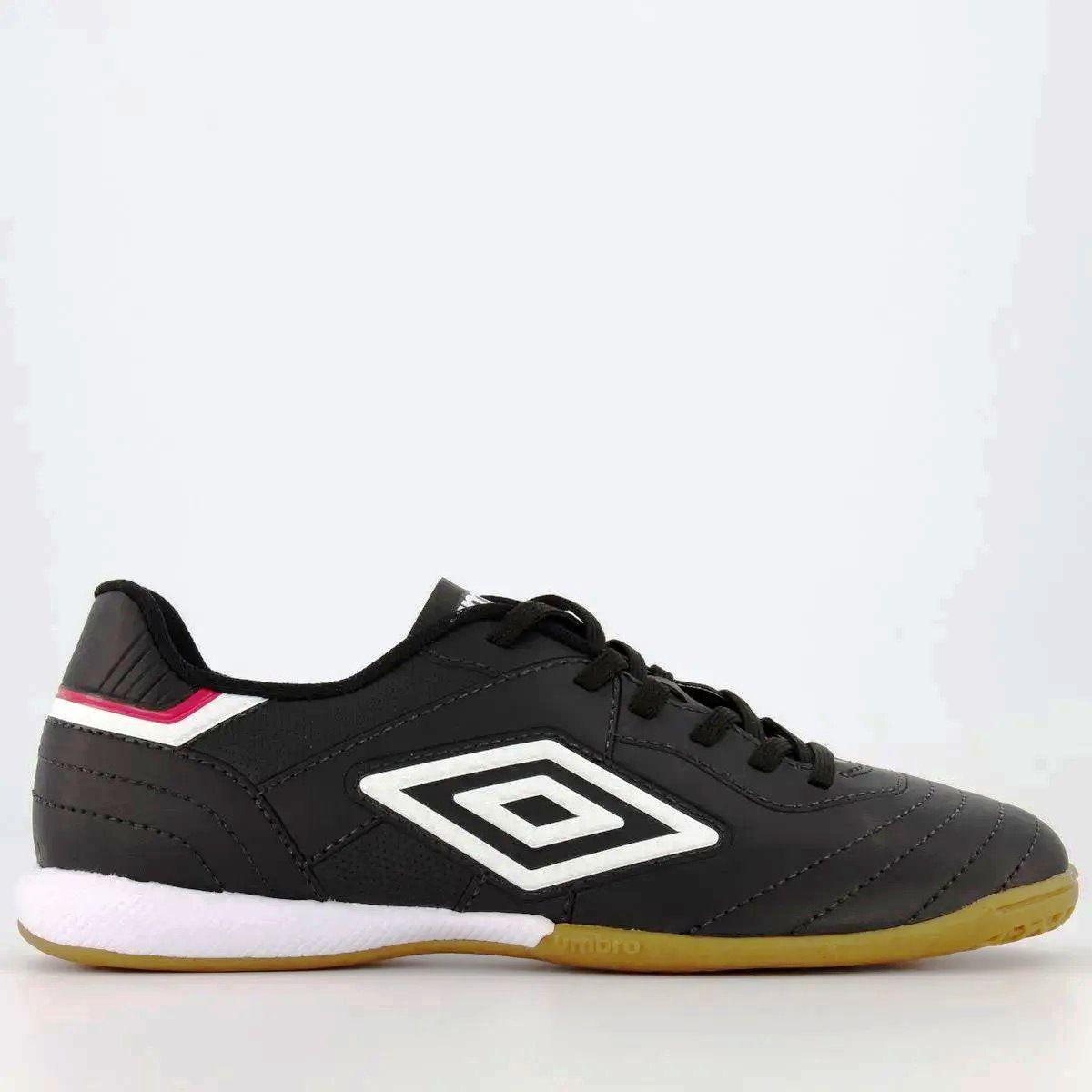Chuteira Futsal Umbro Speciali III League Masculino - Preto/Branco