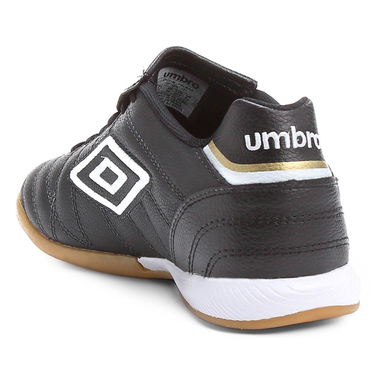 Chuteira Futsal Umbro Speciali Premier Masculino - Preto/Branco