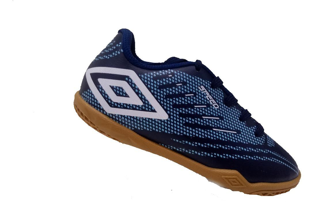 Chuteira Futsal Umbro Speed IV JR - Marinho/Azul