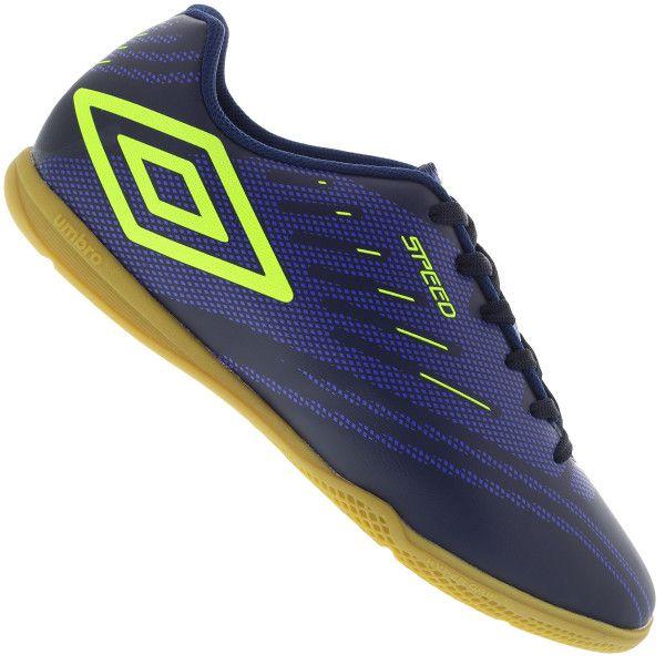 Chuteira Futsal Umbro Speed IV JR. -Marinho / Limão