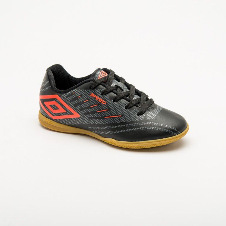 Chuteira Futsal Umbro Speed IV JR - Preto/Coral