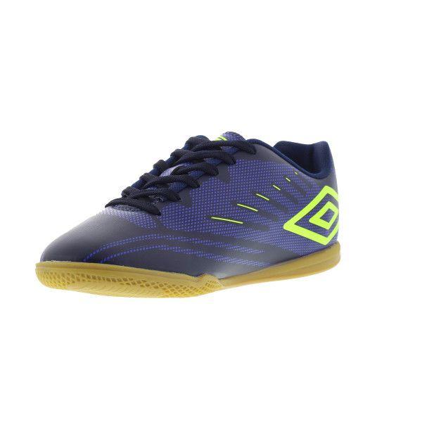 Chuteira Futsal Umbro Speed IV Masculina - Marinho/Limão