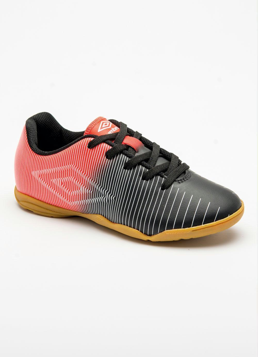 Chuteira Futsal Umbro Vibe Jr - Preto/Laranja