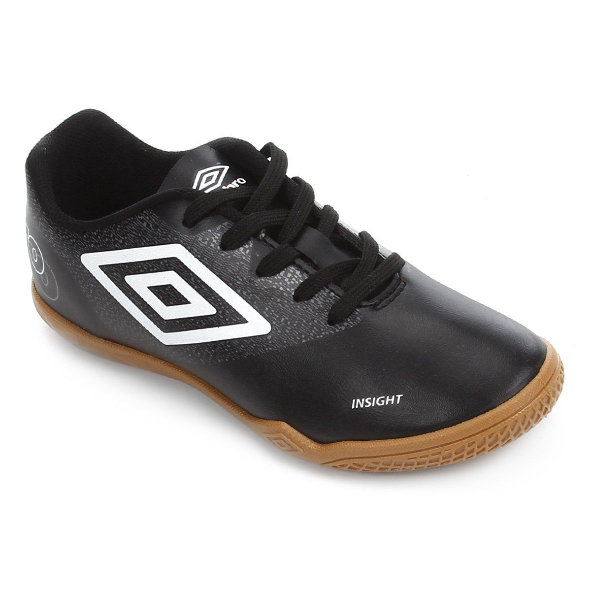 Chuteira Indoor Umbro Insight  Jr - Preto/Branco