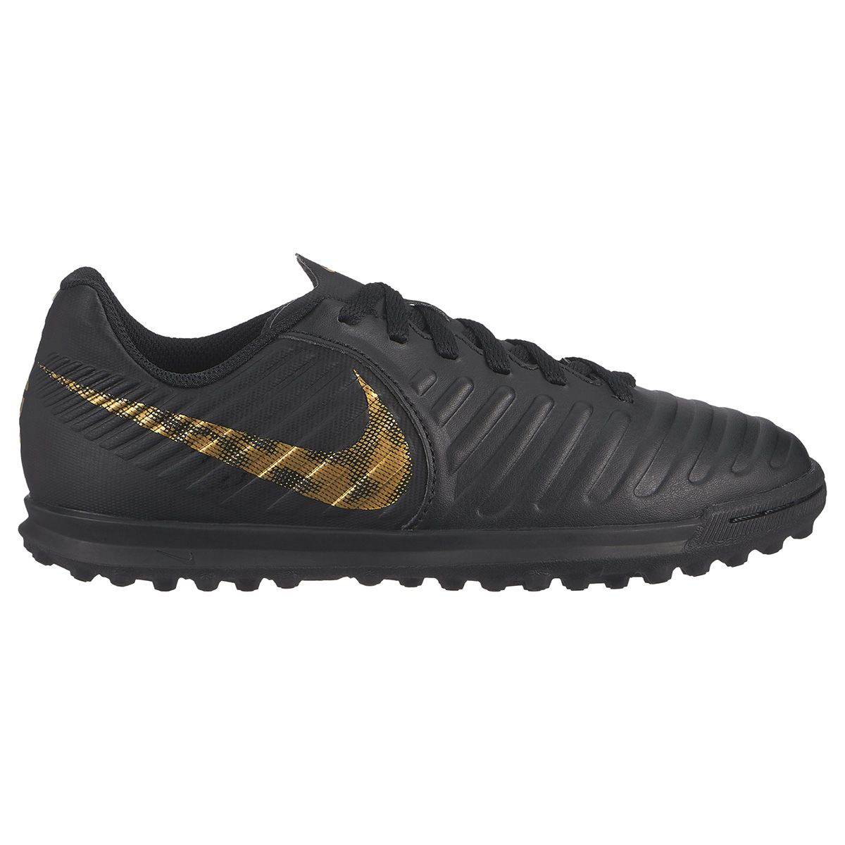 Chuteira Nike Society Legend 7 Club TF - Adulto - Unissex- Preto/Dourado