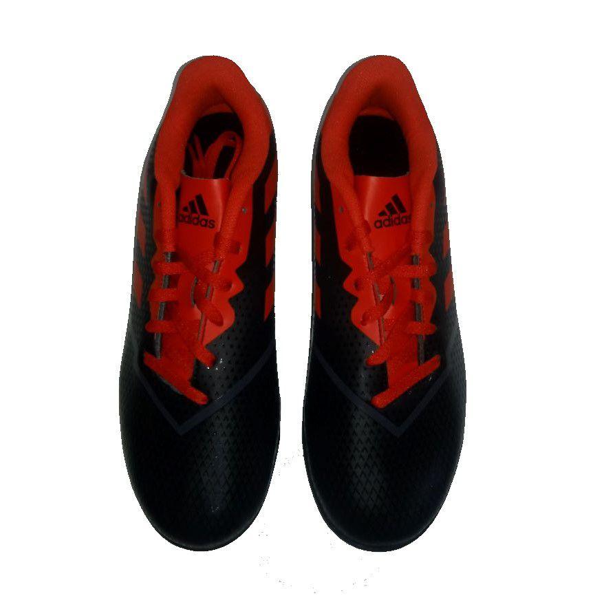 Chuteira Society Adidas Artilheira IV TF Masculina - Preto e Vermelho