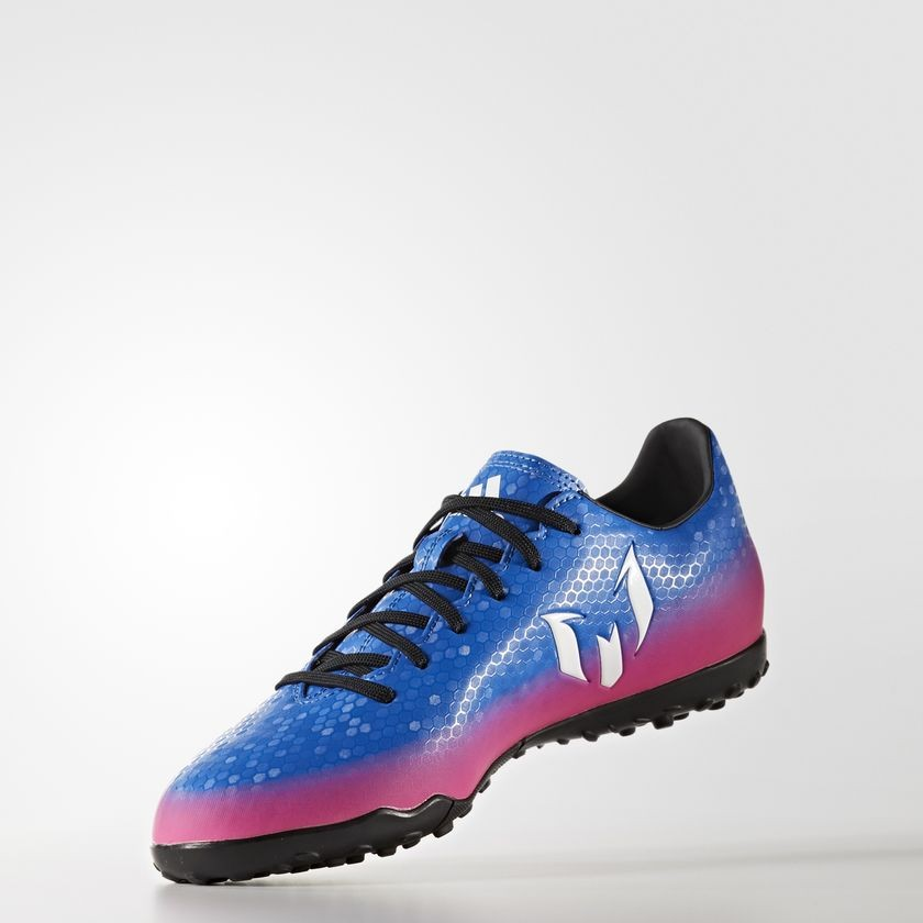 Chuteira Society Adidas Messi 16.4 TF Masculino - Azul/Pink