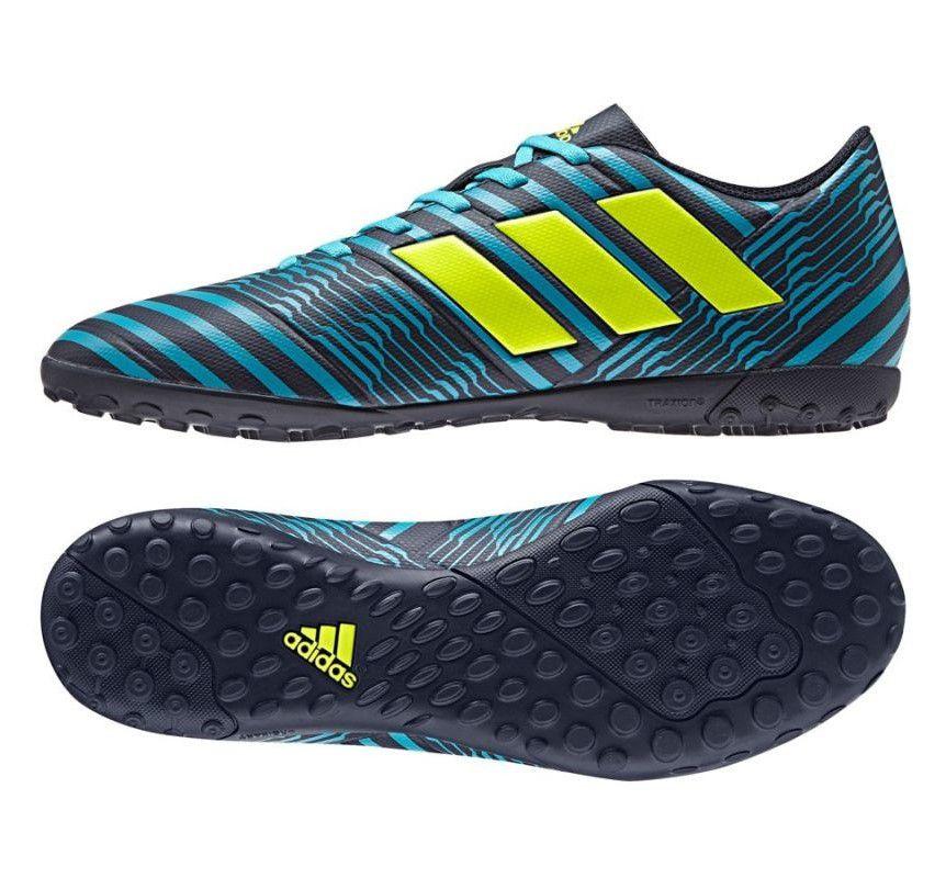 Chuteira Society Adidas Nemeziz 17.4 TF - Azul e Marinho