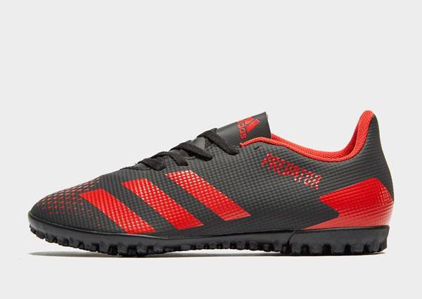 Chuteira Society Adidas Predator 20.4 TF - Preto/Vermelho