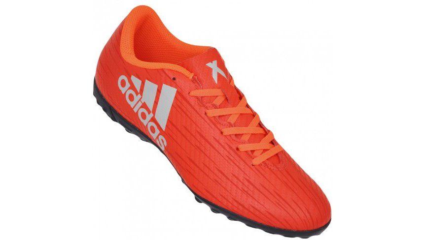 Chuteira Society Adidas X 16.4 TF Adulto - Laranja