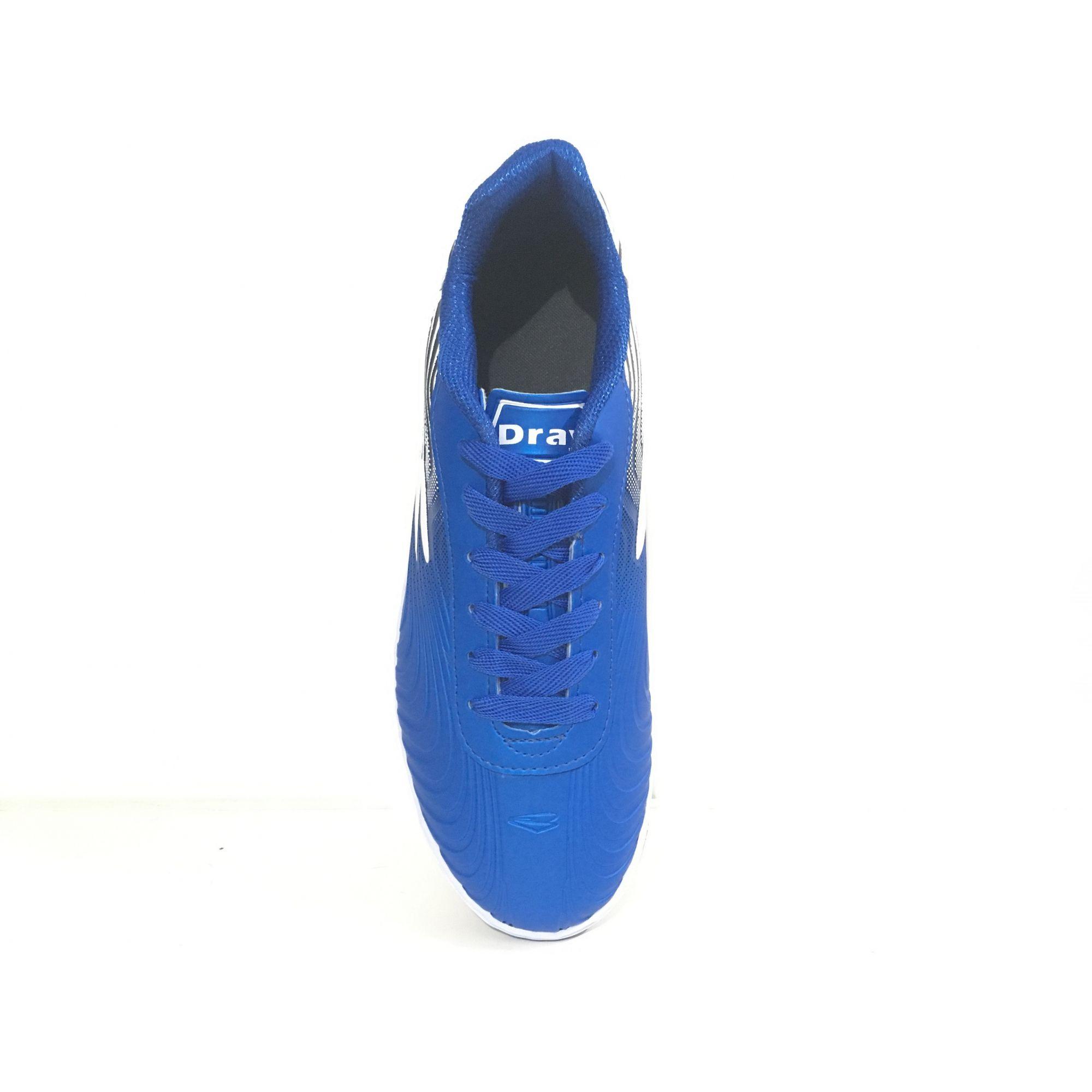 Chuteira Society Dray Topfly X2 Adulto - Azul/Branco