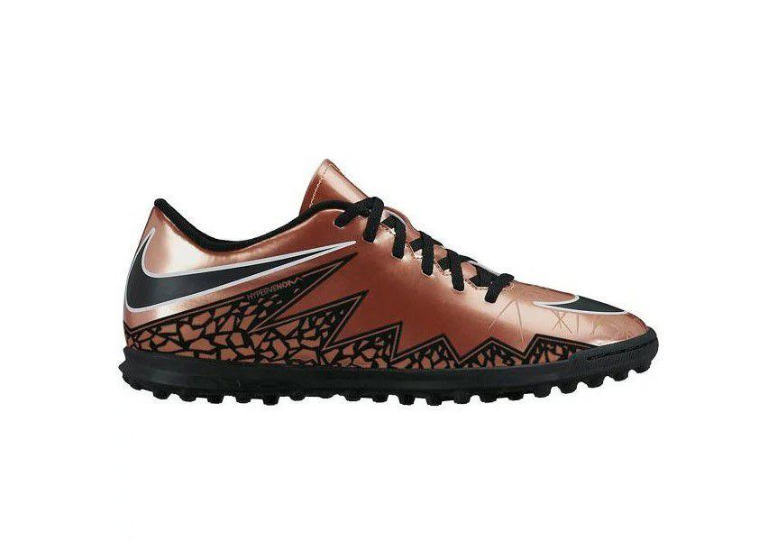 Chuteira Society Nike Hypervenom Phade ll TF Masculino - Cobre e Preto