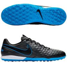Chuteira Society Nike Tiempo Legend 8 Academy TF - Grafite/Azul