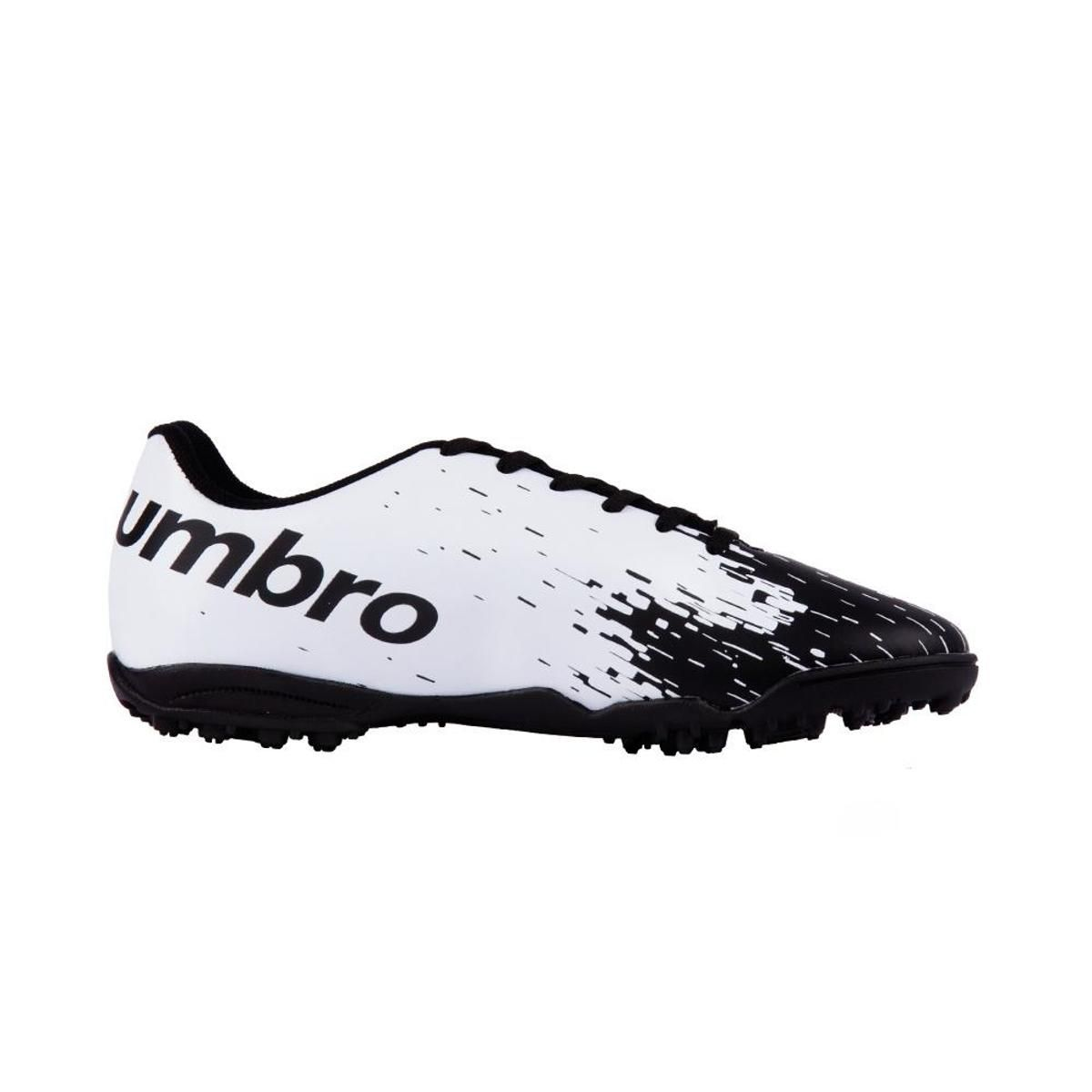 Chuteira Society Umbro Acid Adulto - Preto/Branco