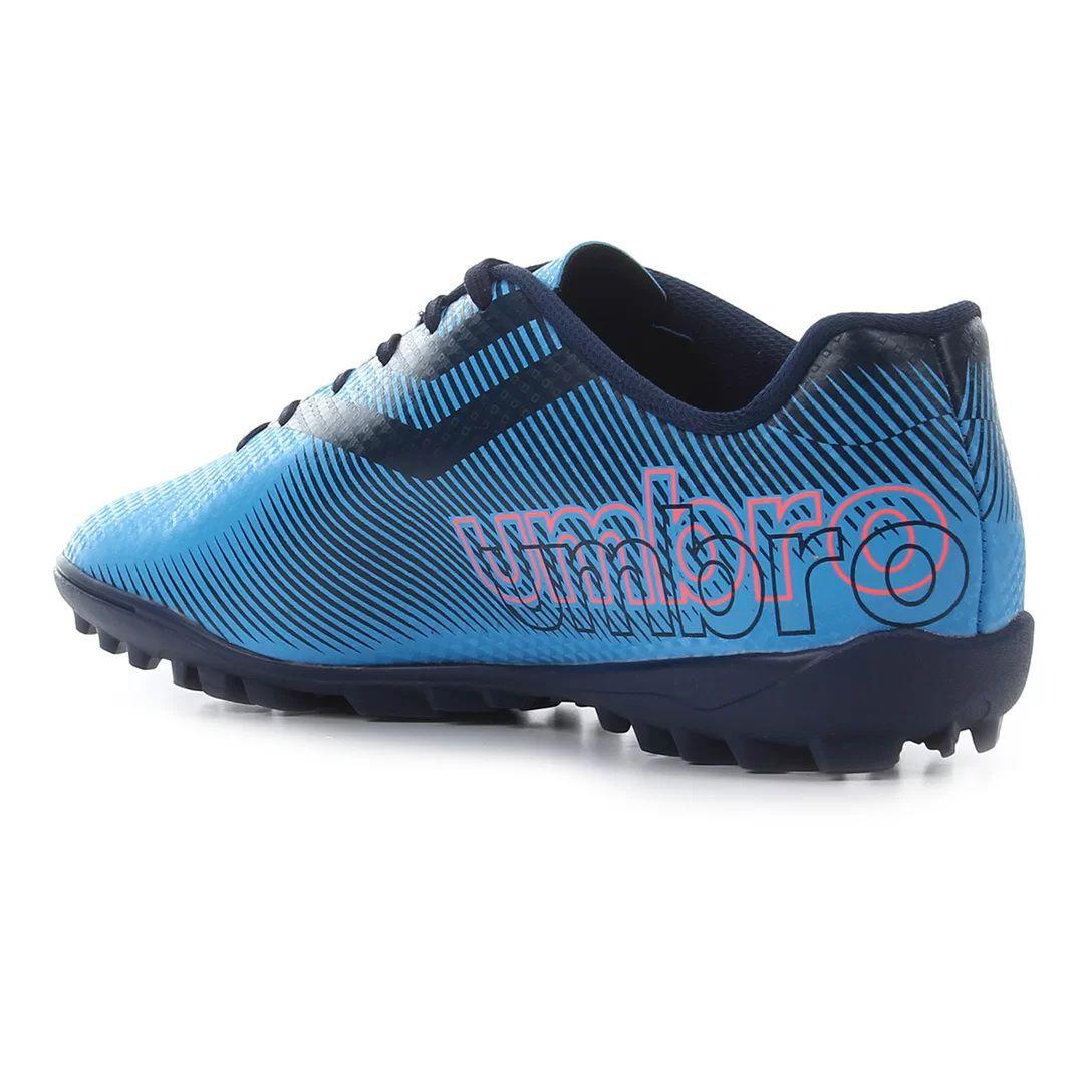 Chuteira Society Umbro Carbon II Adulto -  Azul/Coral