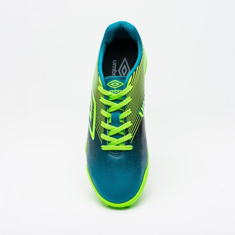 Chuteira Society Umbro Slice lll Masculino - Azul/Verde