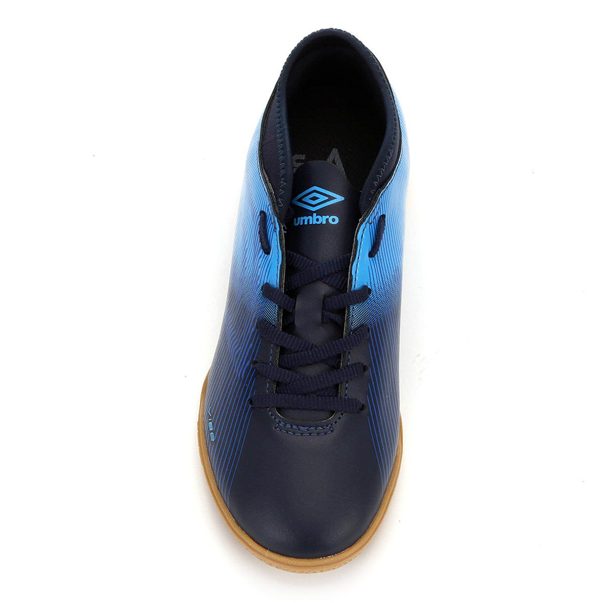 Chuteira Umbro Futsal Vibe II Jr - Juvenil- Azul/Preto