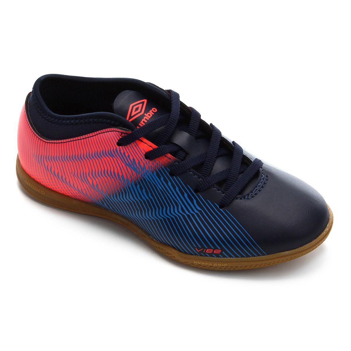 Chuteira Umbro Futsal Vibe II Jr - Marinho/Coral