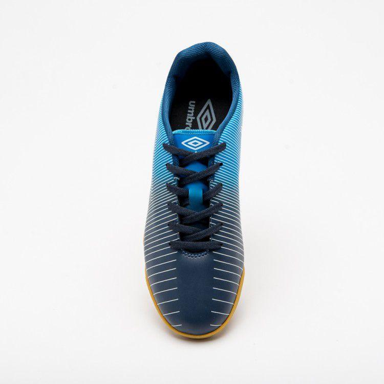 843a8a8739fe8 Chuteira Futsal Umbro Vibe Adulto - Azul Escuro - Joinville Sportcenter