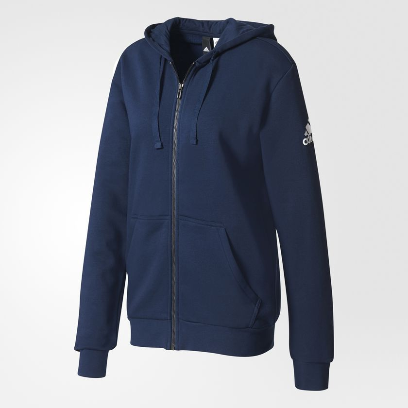 Jaqueta Adidas Capuz Essentials Base Fleece Masculino - Azul