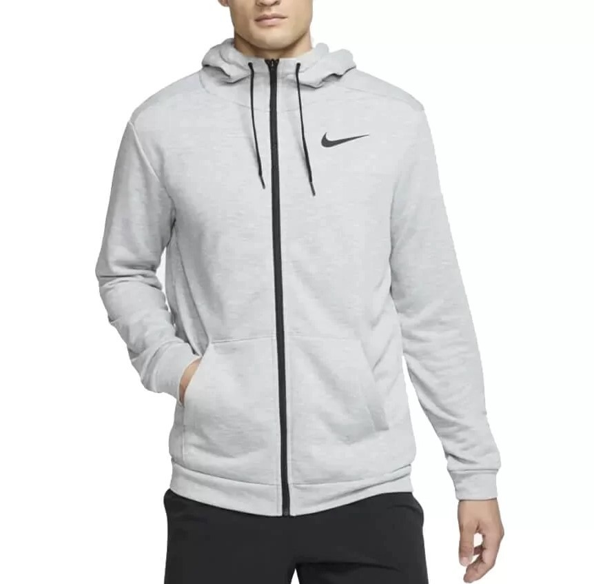 Jaqueta Moletom Nike Dri-Fit Masculina - Cinza