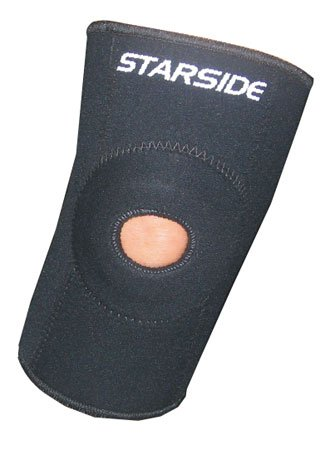 Joelheira de Neoprene Starside Longa com Rótula 302 - Adulto - Preto