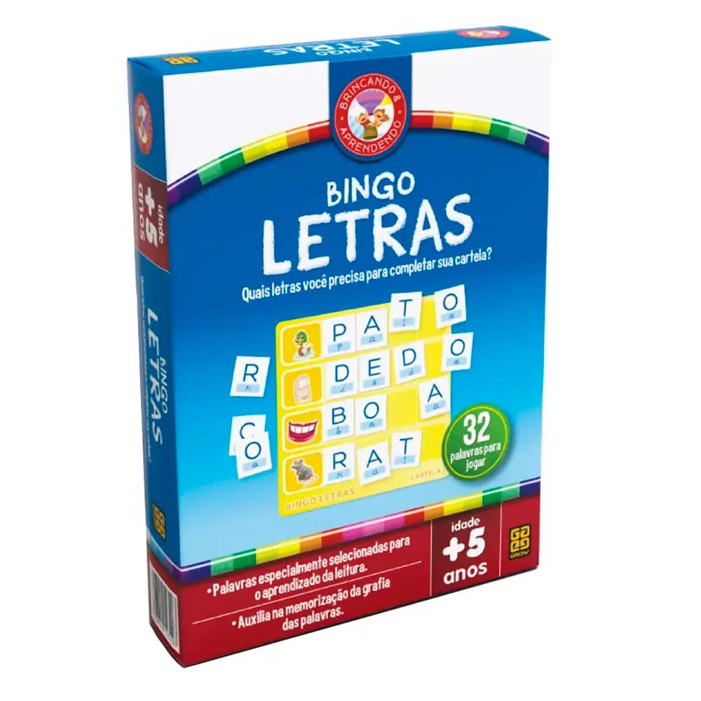 Jogo Bingo Letras Infantil - Grow