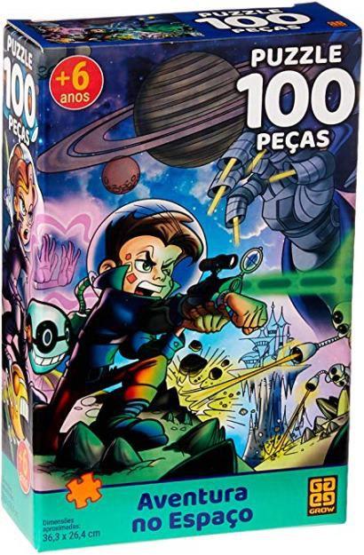 Jogo Puzzle 100 Peças Aventura No Espaço - Grow