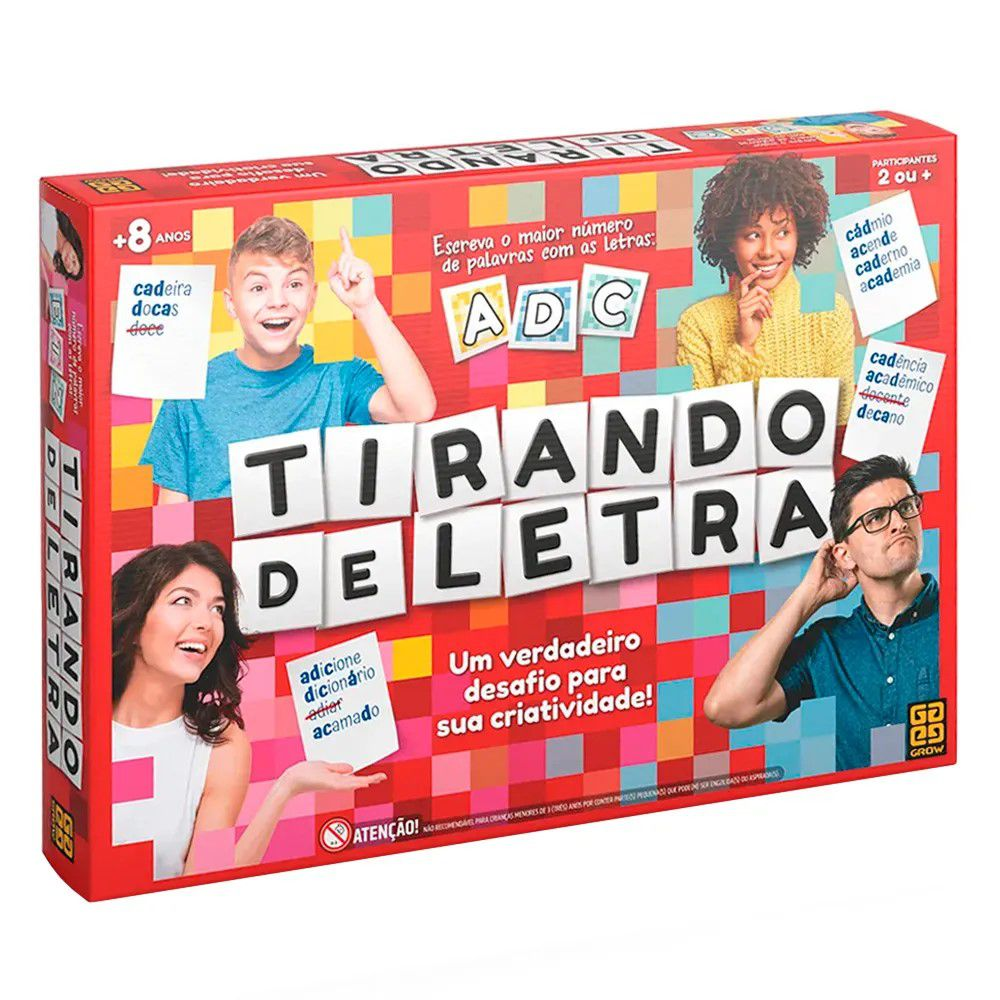 Jogo Tirando De Letra - Grow - Juvenil
