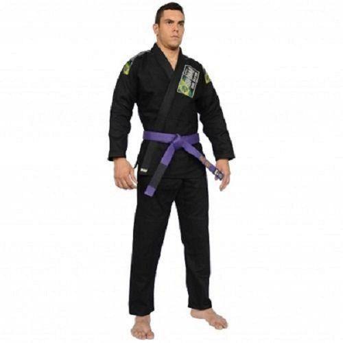 Kimono Shinai Jiu Jitsu Standart Trançado - Masculino- Preto