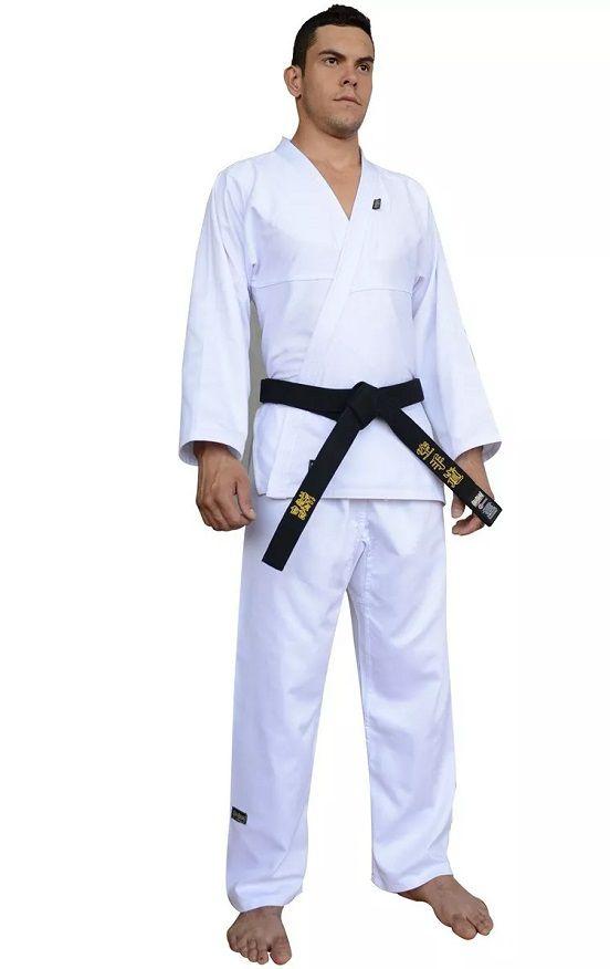 Kimono Shinai Karate Gi Start  com Faixa - Adulto - Unissex - Branco