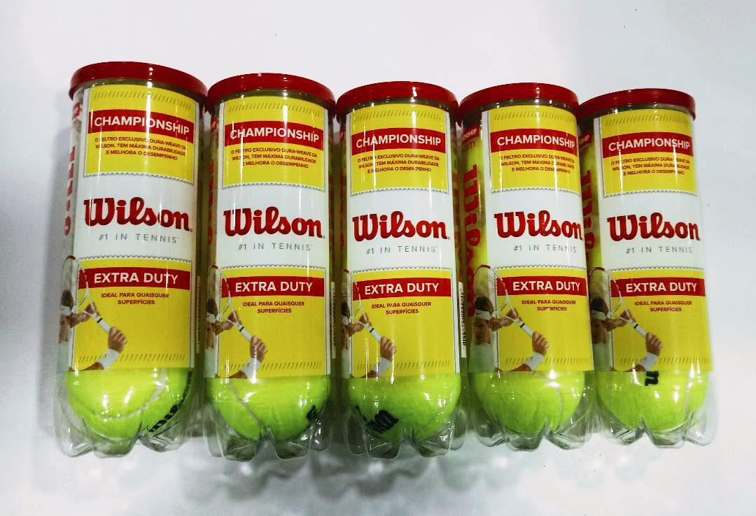 Kit 5 Tubos Bola De Tênis Wilson C/ 3 Unidades Cada