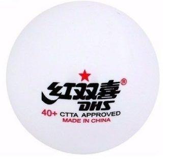 Kit c/ 10 Bolas de Tênis de Mesa DHS 1 Estrela D40+