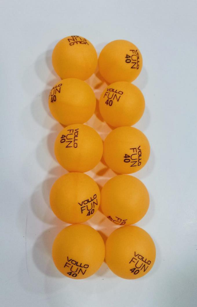 Kit C/ 10 Bolinhas De Tênis De Mesa Vollo Fun 40