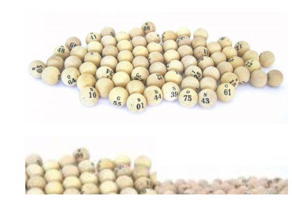 Kit com 75 Bolinhas para Bingo Numeradas